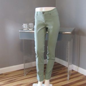 Active USA Stretch green Skinny Pants Jeggings L